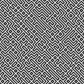 Raster Seamless Black And White Geometric Patttern Royalty Free Stock Photo