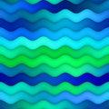 Raster Seamless Horizontal Wavy Blue Green Gradient Lines Water Texture
