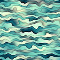 Raster Seamless Horizontal Wavy Distorted Gradient Lines Water Texture Royalty Free Stock Photo
