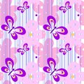 Seamless spring bright pretty female pattern with butterflies and flowers for design of textiles, wallpaper. White with
