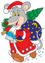 Rat-a-Clause (vector clip-art) Royalty Free Stock Photos