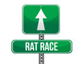 Rat race road sign illustration design over a white background Stock Images