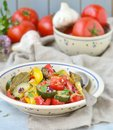 Ratatouille the traditional french vegetable stew in a ceramic dish rustic style Royalty Free Stock Photo