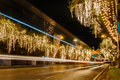 Ratchadamnoen road decorates light bangkok on at night Stock Image