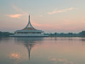 Ratchamangkhala pavilion under twilight sky photograph in the suanluang rama ix public park bangkok thailand Royalty Free Stock Photos