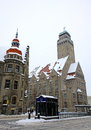 Rathaus building of neukolln inner city locality in berlin town hall germany Royalty Free Stock Images