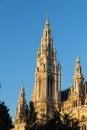 Rathaus Clock Tower Closeup Royalty Free Stock Photo