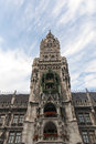 Rathaus tower in Munich Stock Photos
