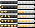Rating Bar with Golden Stars