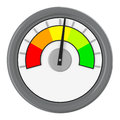 The rating gauge d generated picture of a Royalty Free Stock Photo