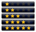 Rating review bars with stars Stock Images