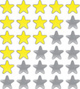 Rating  stars Royalty Free Stock Photo