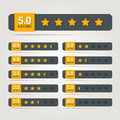 Rating stars badges vector illustration in eps Stock Image