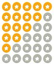 Rating stars icons vector illustration Royalty Free Stock Photography