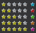 Rating stars transparent on dark background Royalty Free Stock Photography