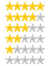 Rating stars on white background Royalty Free Stock Image