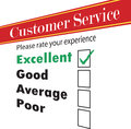 Rating survey customer service satisfaction vector Royalty Free Stock Photography