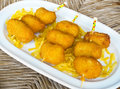 Ration of croquettes typical tapa in spain spanish cuisine Royalty Free Stock Photography