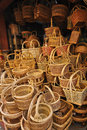 Rattan basket Royalty Free Stock Photos