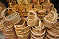 Rattan basket Royalty Free Stock Photo