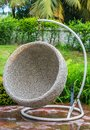 Rattan chair Royalty Free Stock Photo