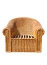Rattan Chair Royalty Free Stock Photo