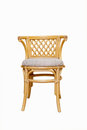 Rattan chair on a white background Stock Photo