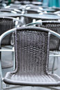 Rattan chairs Royalty Free Stock Images
