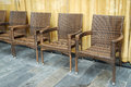 Rattan chairs several in the meeting room Royalty Free Stock Photography