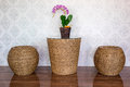 Rattan chairs and table Royalty Free Stock Photo