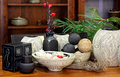 Rattan decor Royalty Free Stock Images