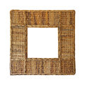 Rattan frame isolated included clipping path Royalty Free Stock Photography