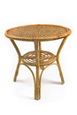 Rattan table Royalty Free Stock Image
