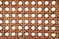 Rattan texture from thonet chair handcrafted Royalty Free Stock Photo