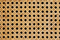 Rattan weave closeup of isolated on black background Royalty Free Stock Photo