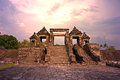 Ratu boko ancient palace temple sunset of at yogyakarta indonesia Stock Images
