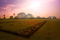 Ratu boko ancient palace temple sunset of at yogyakarta indonesia Stock Photo