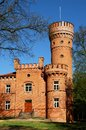 Raudone Castle built during the 16th century, example of Neo-Gothic architecture. Raudone, Jurbarkas district, Lithuania. Raudone Royalty Free Stock Photo
