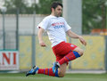 Raul rusescu football player pictured durint the warm up before the romanian league one game between concordia chiajna and steaua Royalty Free Stock Photography