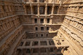 Rav ki vav stepwell ornate stone carved walls lining the th century at patan gujarat india selected as a unesco world heritage Royalty Free Stock Photos