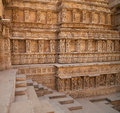 Rav ki vav stepwell ornate stone carved walls lining the th century at patan gujarat india selected as a unesco world heritage Royalty Free Stock Images