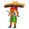 Ravana easy to edit vector illustration of monster in dussehra Stock Photos