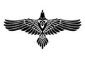 The Raven of Odin, In Norse, Celtic style Royalty Free Stock Photo