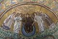 Ravenna emilia romagna italy europe basilica of st vital detail mosaic view apse the in Royalty Free Stock Image