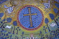 Ravenna, Italy - 18 AUGUST, 2015 - 1500 years old Byzantine mosaics from the UNESCO listed basilica of Saint Vitalis in Ravenna, I Royalty Free Stock Photo