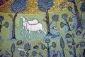 Ravenna, Italy - 18 AUGUST, 2015 - 1500 years old Byzantine mosaics from the UNESCO listed basilica of Saint Vitalis in Ravenna, I Royalty Free Stock Photo