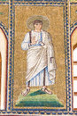 Ravenna, Italy - 7 july 2016 - Basilica of San Vitale mosaics Royalty Free Stock Photo