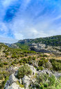 Ravine barranco valentin near the guazalamanco river cazorla region jaen province andalusia spain Stock Photos