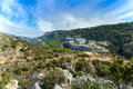 Ravine barranco valentin near the guazalamanco river cazorla region jaen province andalusia spain Royalty Free Stock Photo