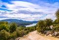 Ravine barranco valentin near the guazalamanco river cazorla region jaen province andalusia spain Royalty Free Stock Images